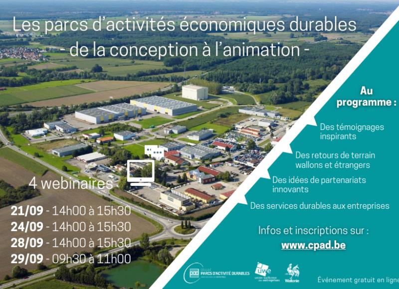 Cycle de webinaire : Les parcs d'activités économiques durables : de la conception à l'animation